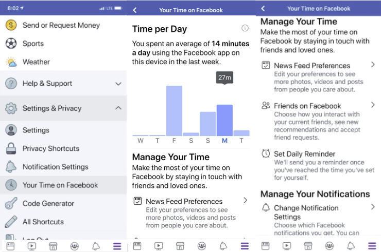 Facebook Begins Rolling Out New Dashboards Tracking Time Spent in